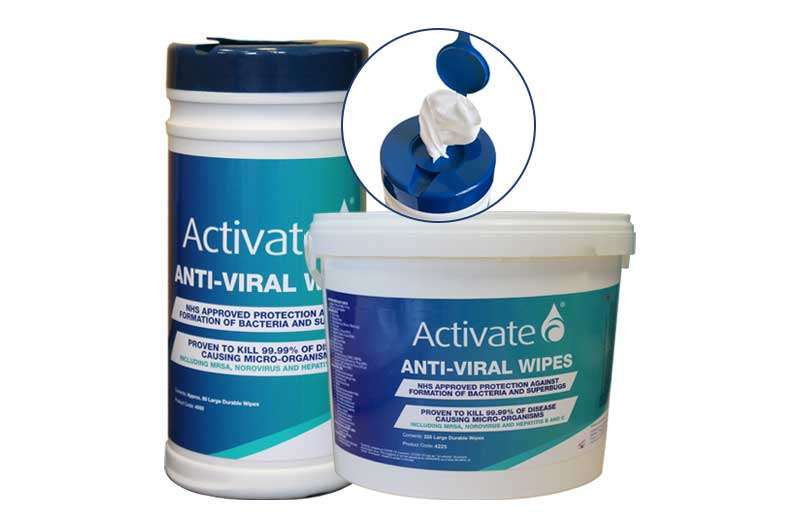 Activate Lubricants Anti-viral surface wipes