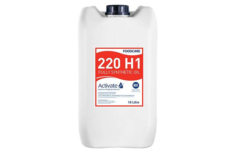 Activate Lubricants Foodcare 220 H1 | Food Grade Oil