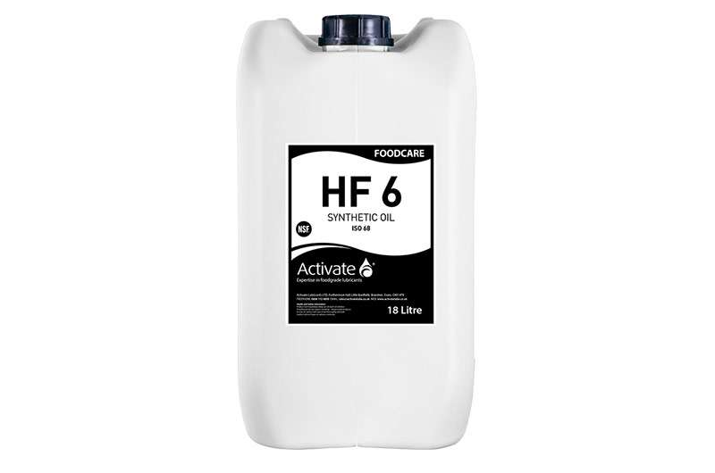 Activate Lubricants Foodcare HF6 | Semi-Synthetic Food Grade Oil