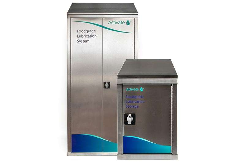 Activate Lubricants Lockable stainless-steel cabinets